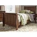 Liberty Furniture Grandpa's Cabin Twin Sleigh Bed  - Item Number: 375-YBR-TSL