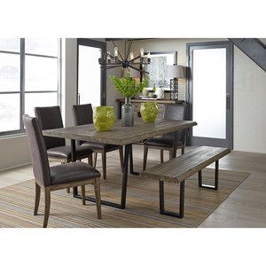 Liberty Furniture Haley Springs 6 Piece Trestle Table Set
