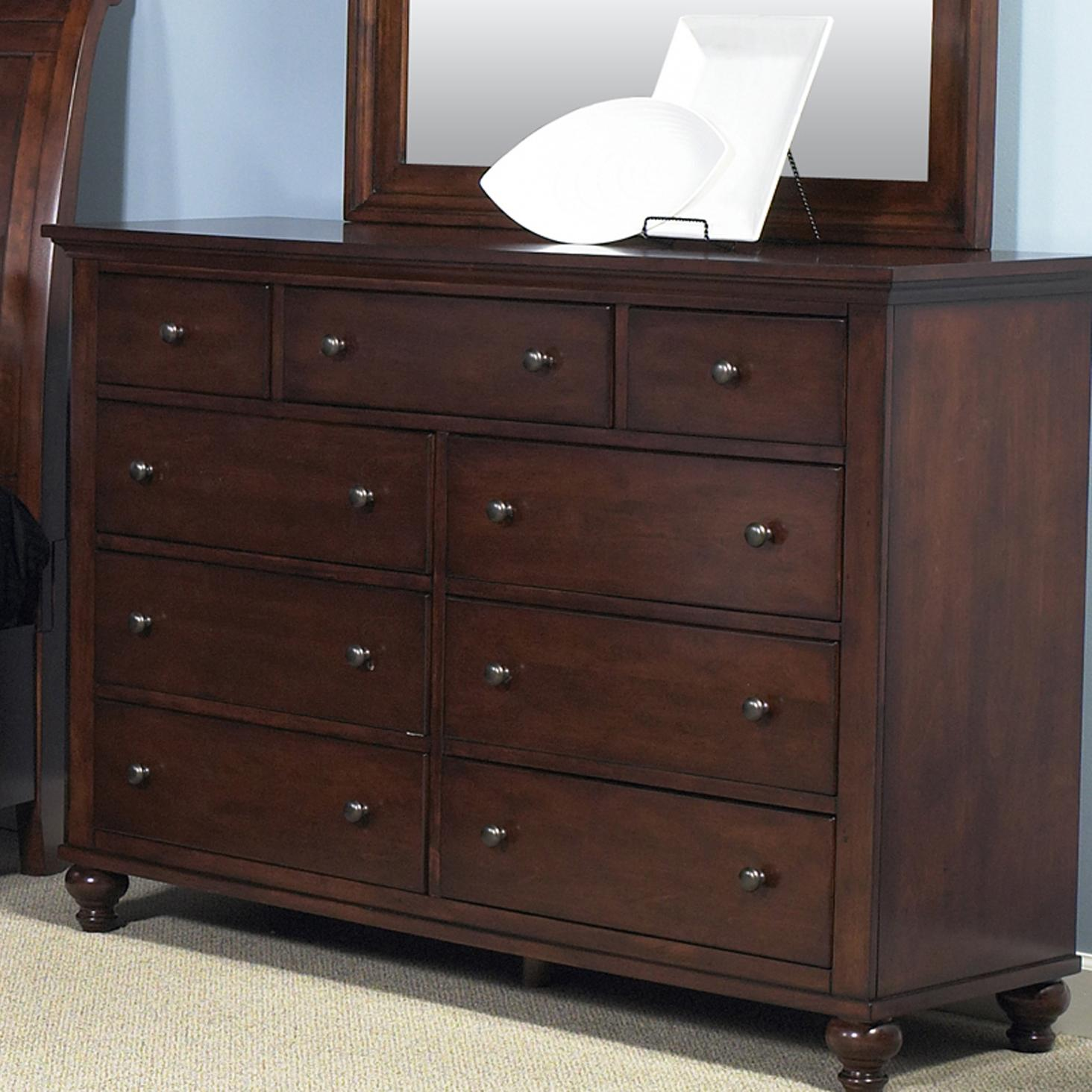 Liberty Furniture Hamilton 341 Br32 Transitional Nine Drawer Dresser Furniture And