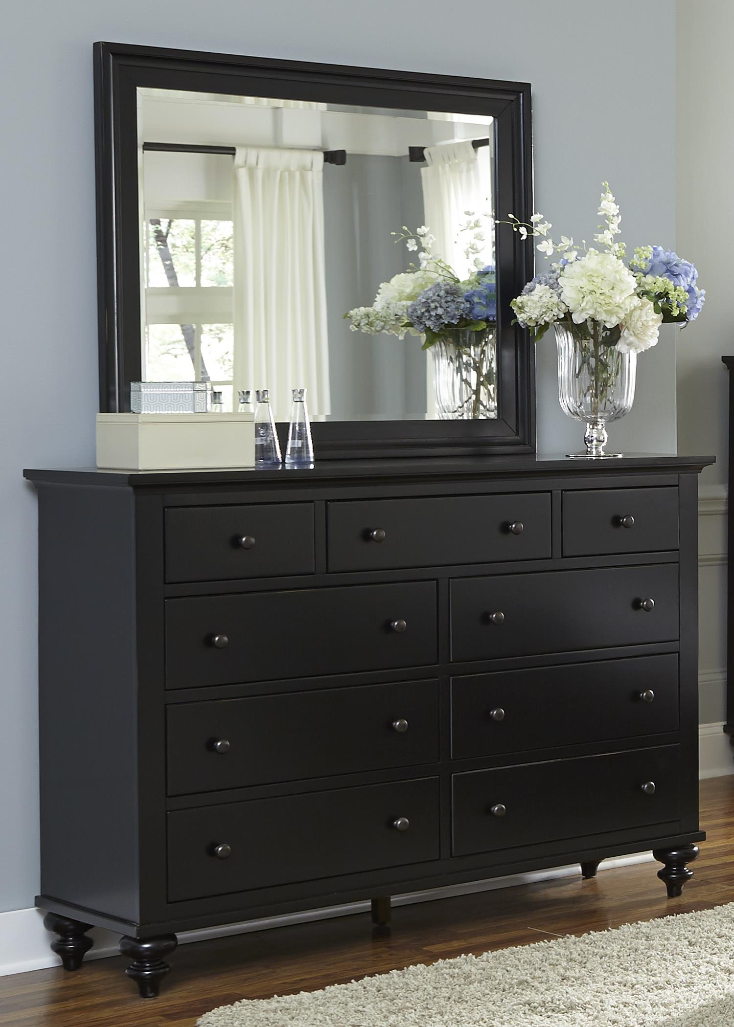 Liberty Furniture Hamilton III Dresser & Mirror - Item Number: 441-BR-DM