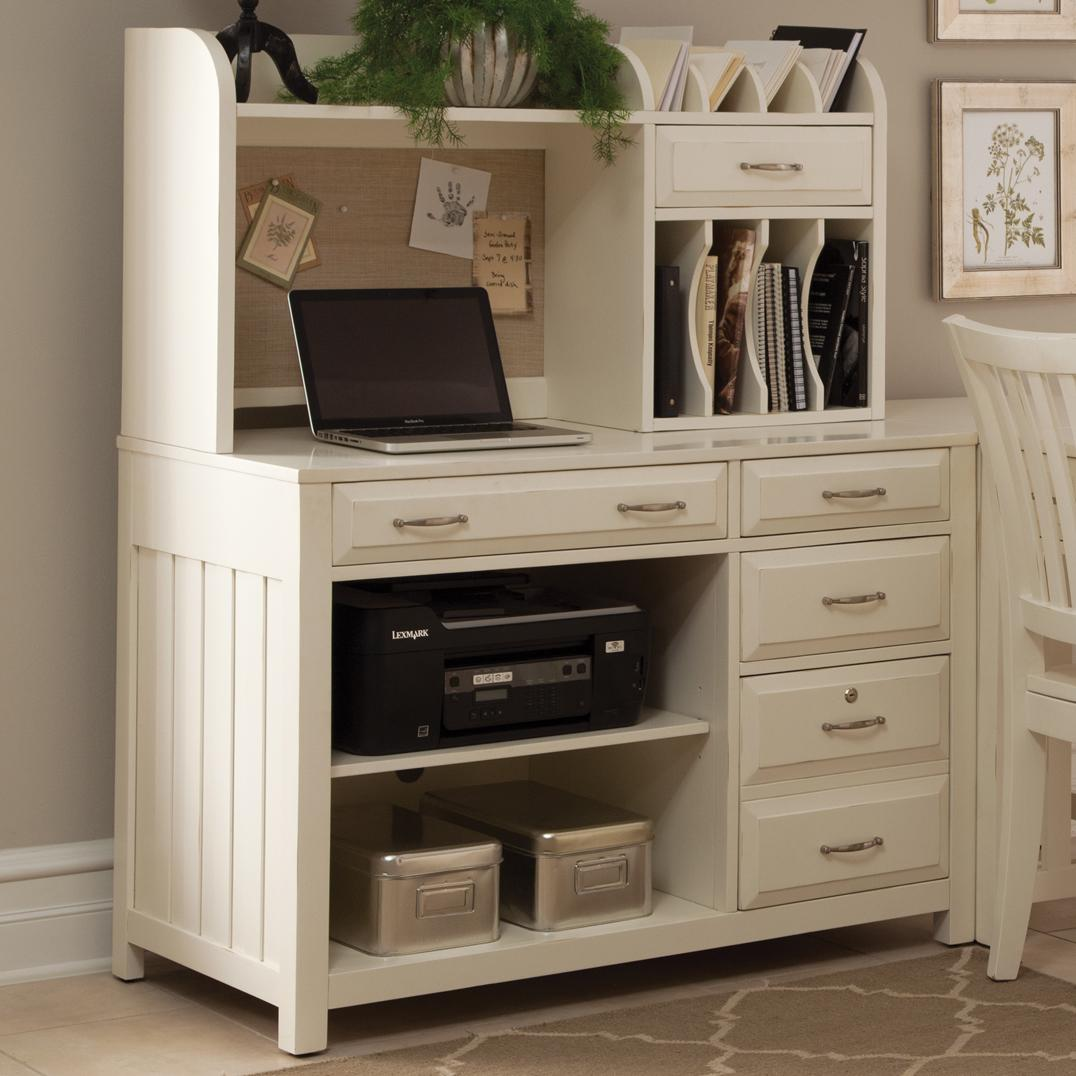 Hampton Bay - White Credenza Desk and Hutch