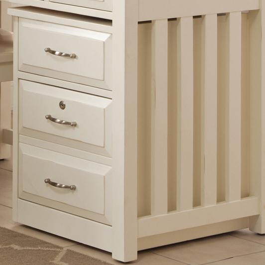 Liberty Furniture Hampton Bay - White Mobile File Cabinet - Item Number: 715-HO146