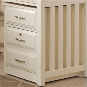 Liberty Furniture Hampton Bay - White Mobile File Cabinet