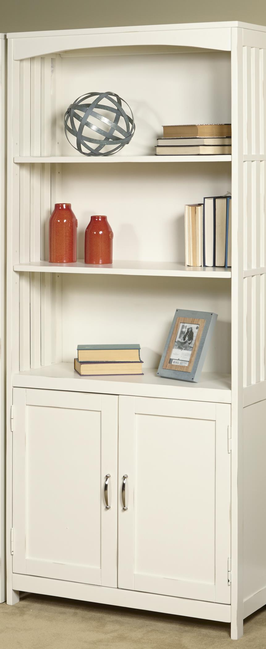 Liberty Furniture Hampton Bay - White Door Bookcase                                - Item Number: 715-HO202