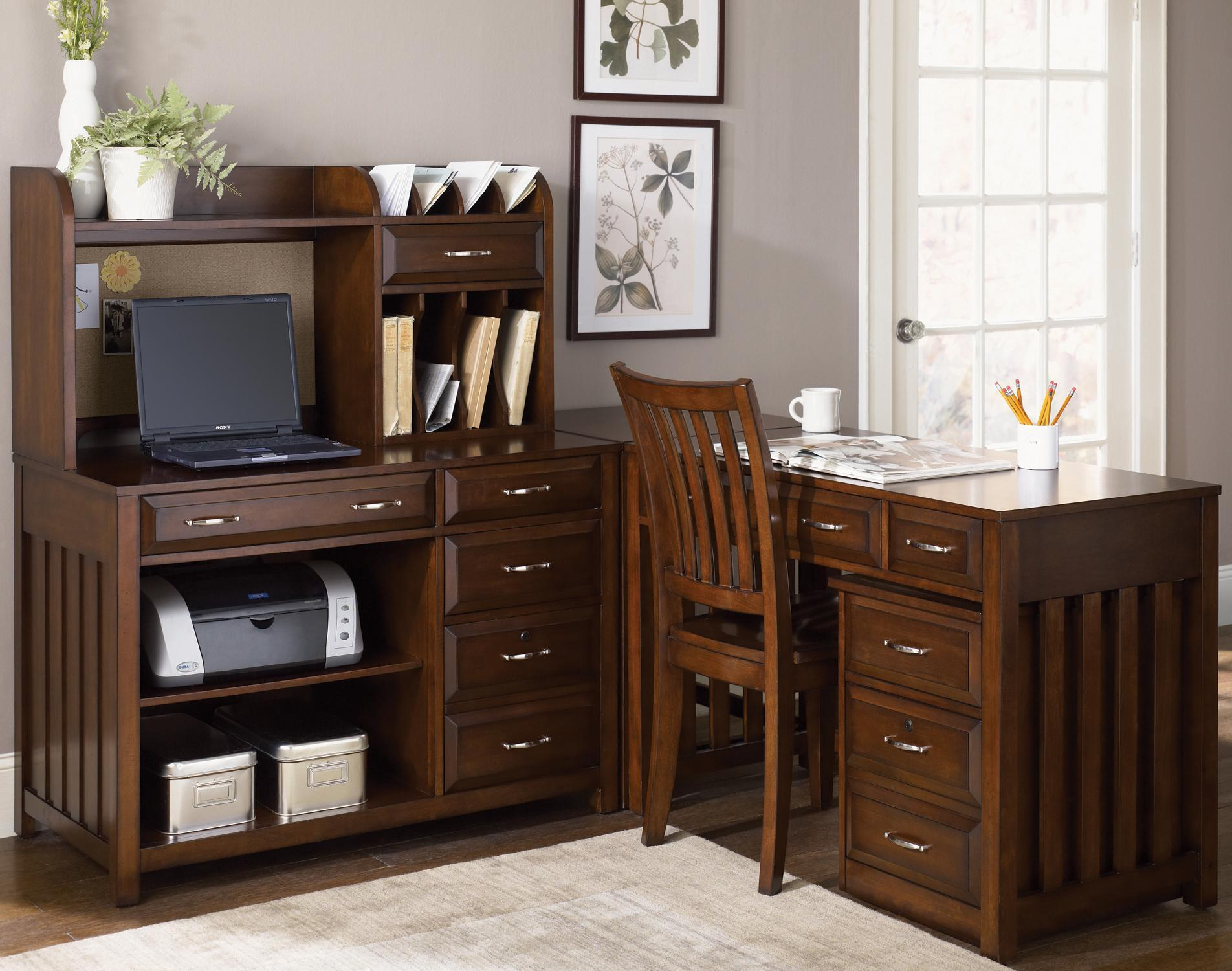Liberty Furniture Hampton Bay  L-Shaped Desk with File Cabinet - Item Number: 718-HO111+111C+121+140+146