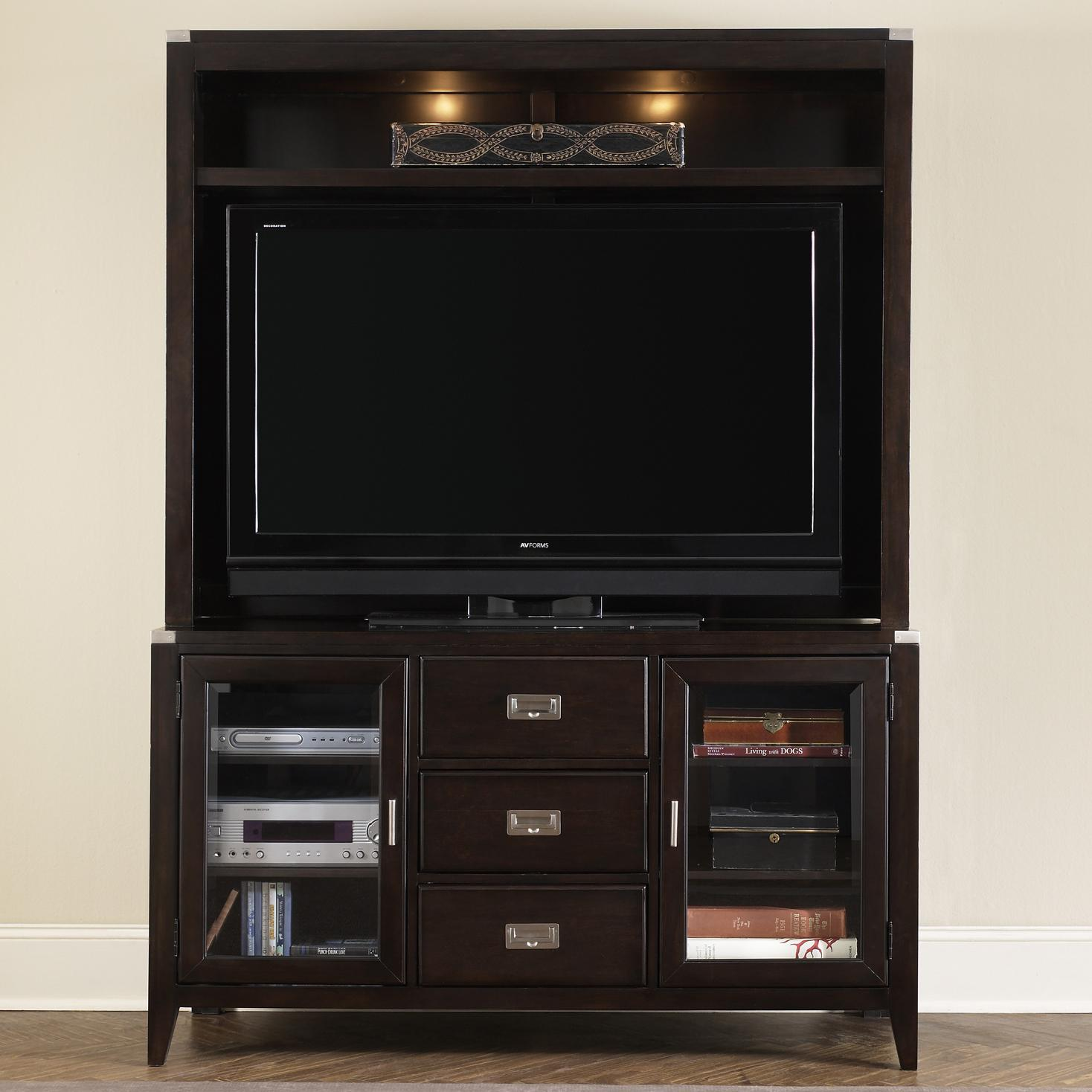 Liberty Furniture Harbor Town  TV Stand and Hutch - Item Number: 349-TV00+EC00