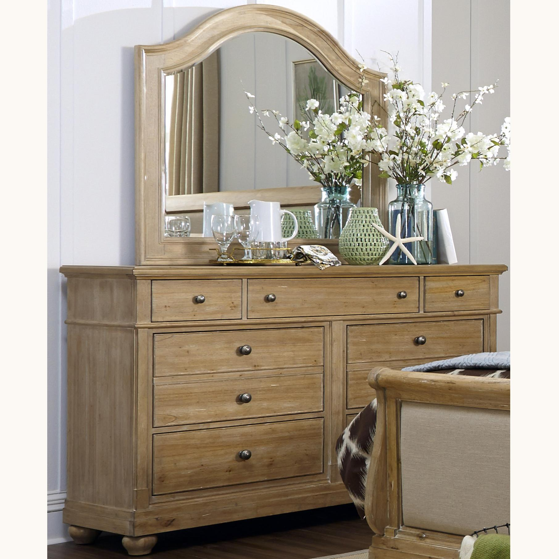 Liberty Furniture Harbor View Dresser with Mirror - Item Number: 531-BR-DM