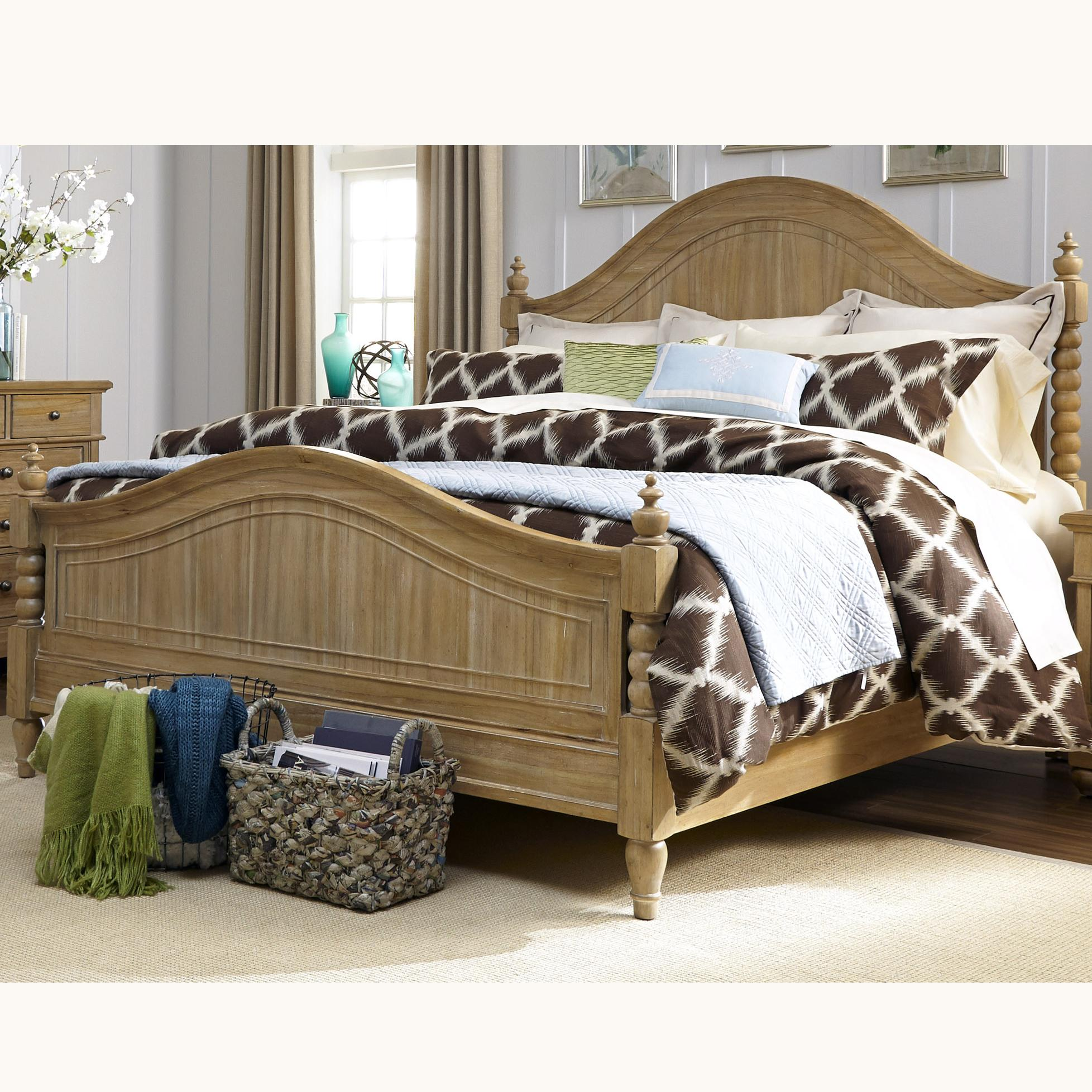 Liberty Furniture Harbor View King Poster Bed with Barley Twist Accents - Item Number: 531-BR-KPS