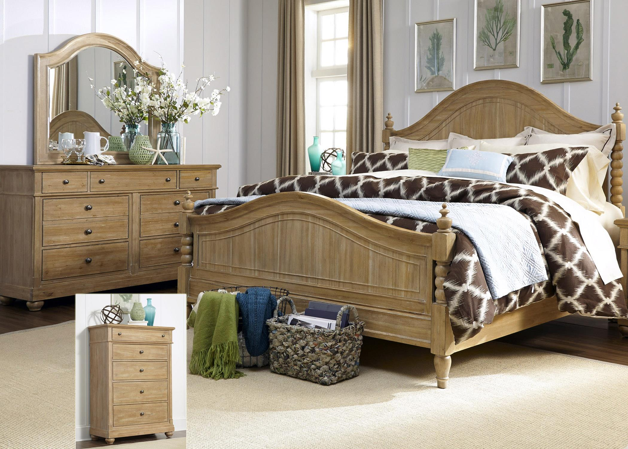 Liberty Furniture Harbor View King Bedroom Group - Item Number: 531-BR-KPSDMC