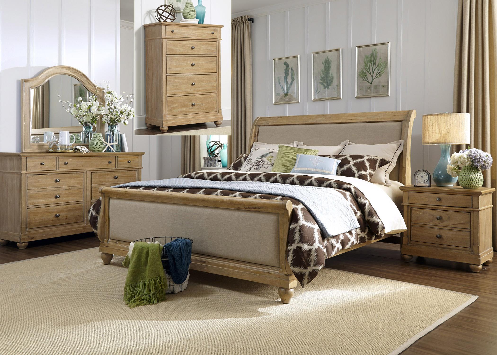Liberty Furniture Harbor View King Bedroom Group - Item Number: 531-BR-KSLDMCN