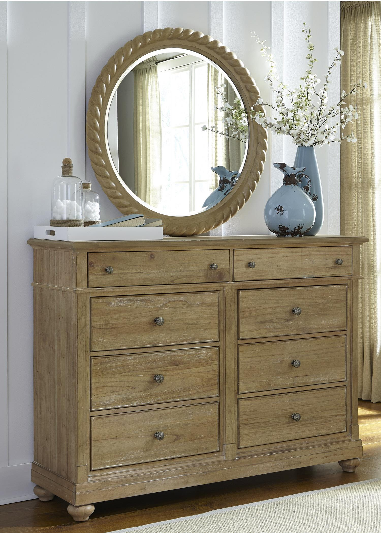 Liberty Furniture Harbor View Dresser and Mirror - Item Number: 531-BR-ODM