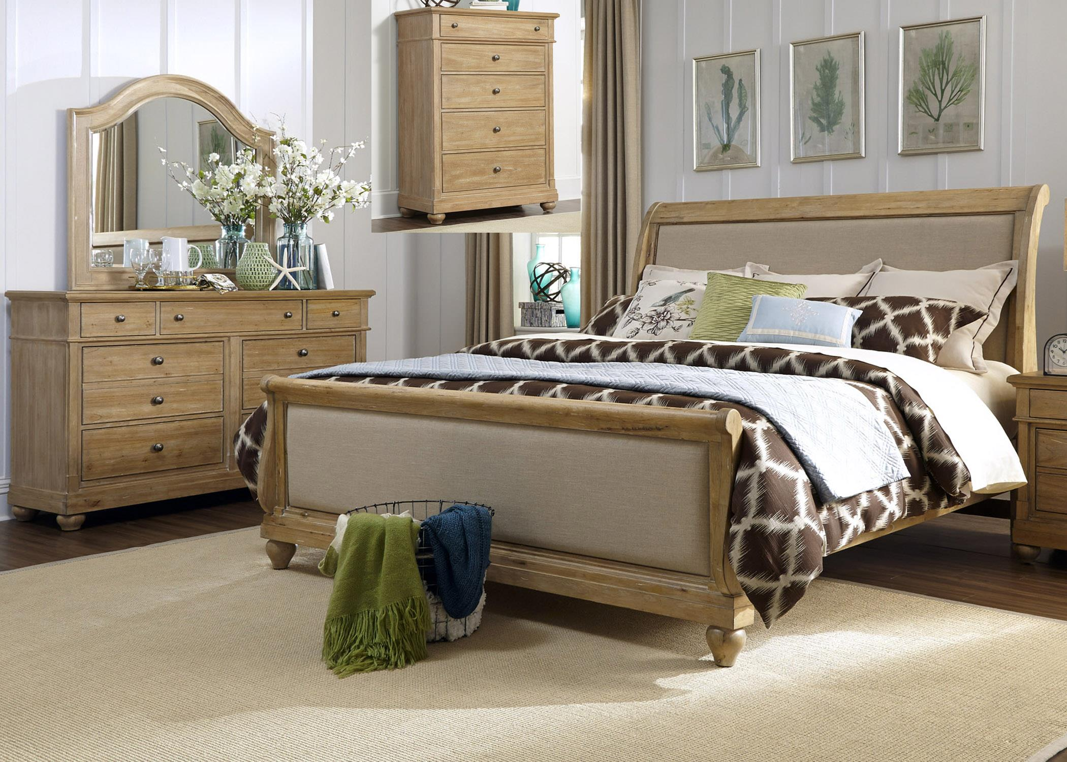 Liberty Furniture Harbor View Queen Bedroom Group - Item Number: 531-BR-QSLDMC