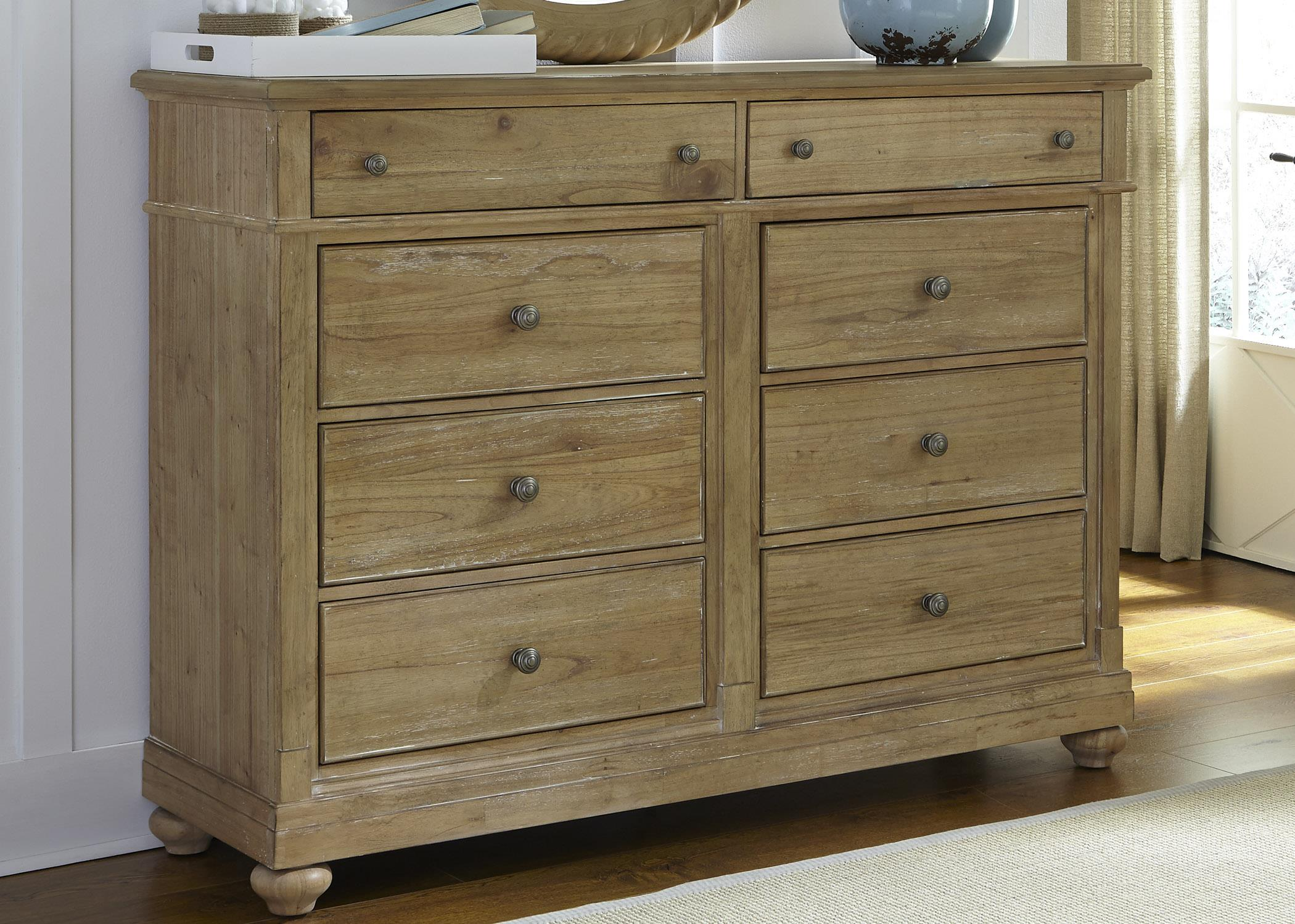 Liberty Furniture Harbor View Dresser with 8 Drawers - Item Number: 531-BR32