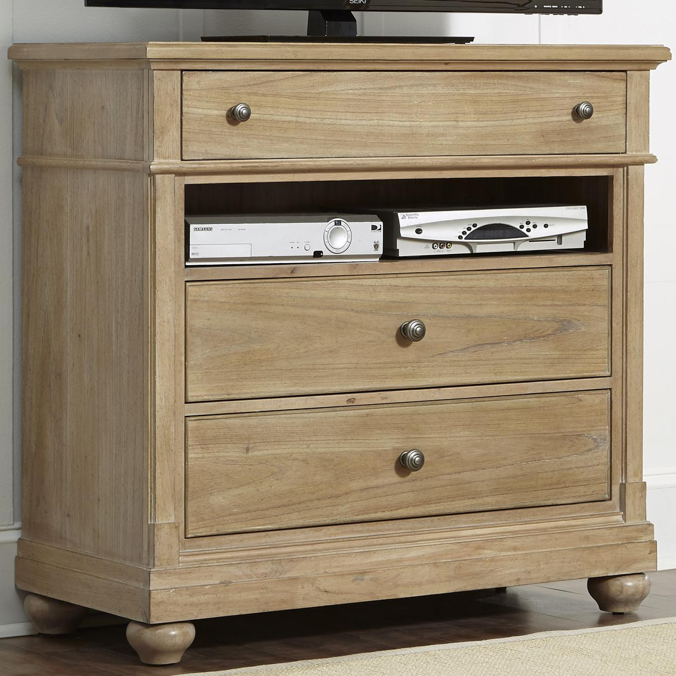 Liberty Furniture Harbor View 531 Br45 Media Chest With 3 Drawers And Storage Compartment