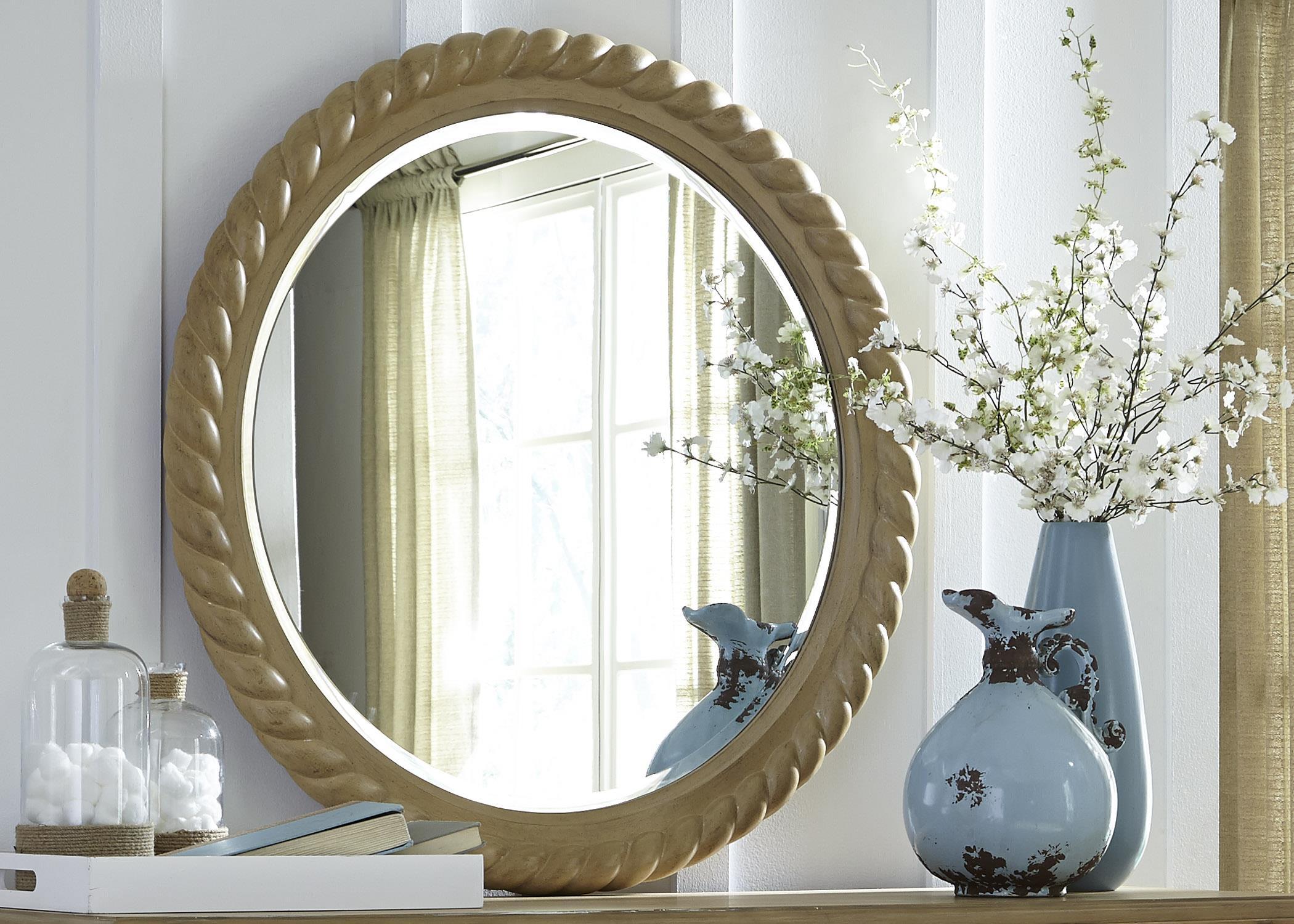 Liberty Furniture Harbor View Rope Mirror - Item Number: 531-BR52