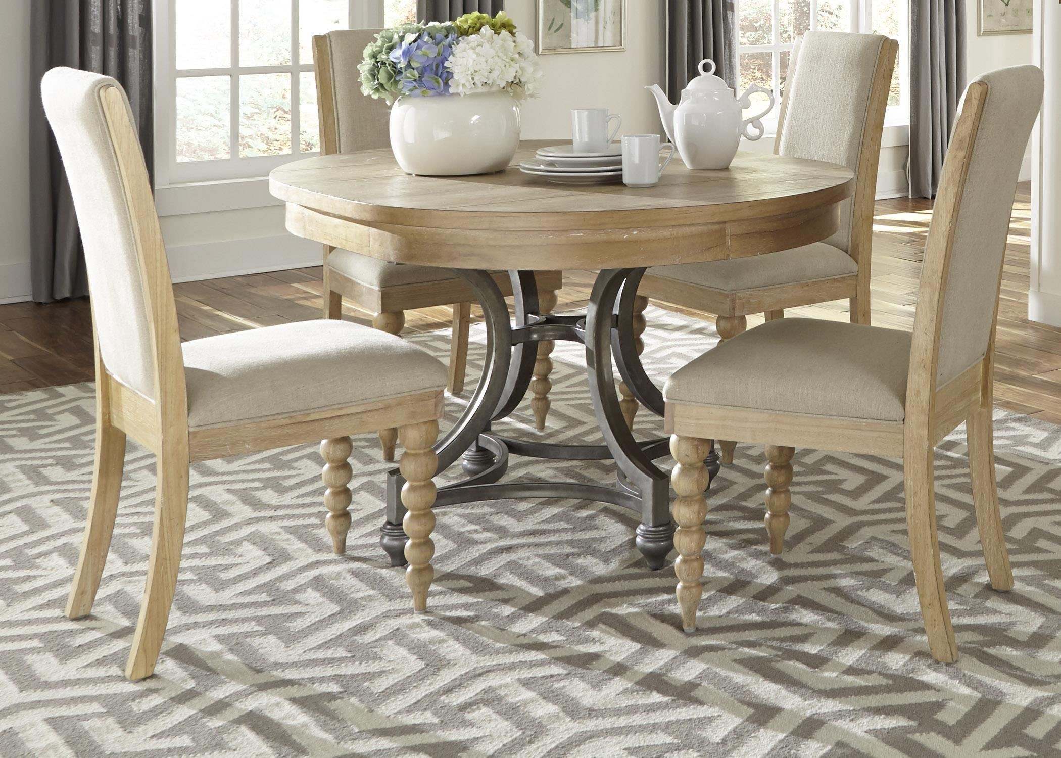 Liberty Furniture Harbor View Round Table Chair Set - Item Number: 531-DR-05ROS
