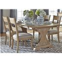 Liberty Furniture Harbor View Trestle Table and Chair Set - Item Number: 531-DR-5TRS