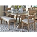 Liberty Furniture Harbor View Trestle Table and Chair Set - Item Number: 531-DR-6TRS
