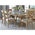 Liberty Furniture Harbor View Trestle Table and Chair Set - Item Number: 531-DR-7TRS
