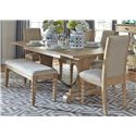 Liberty Furniture Harbor View Trestle Table and Side Chair and Bench Set - Item Number: 531-DR-O6TRS