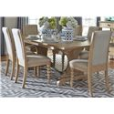Vendor 5349 Harbor View Trestle Table and Chair Set - Item Number: 531-DR-O7TRS