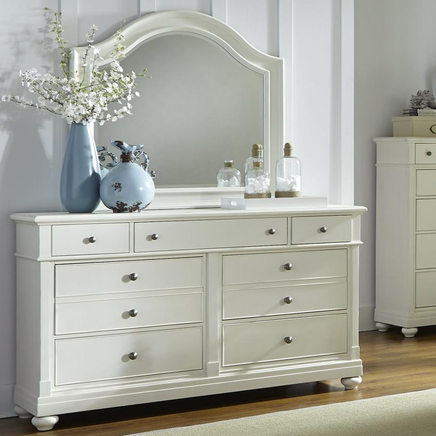 Liberty Furniture Harbor View Dresser with Mirror - Item Number: 631-BR-DM