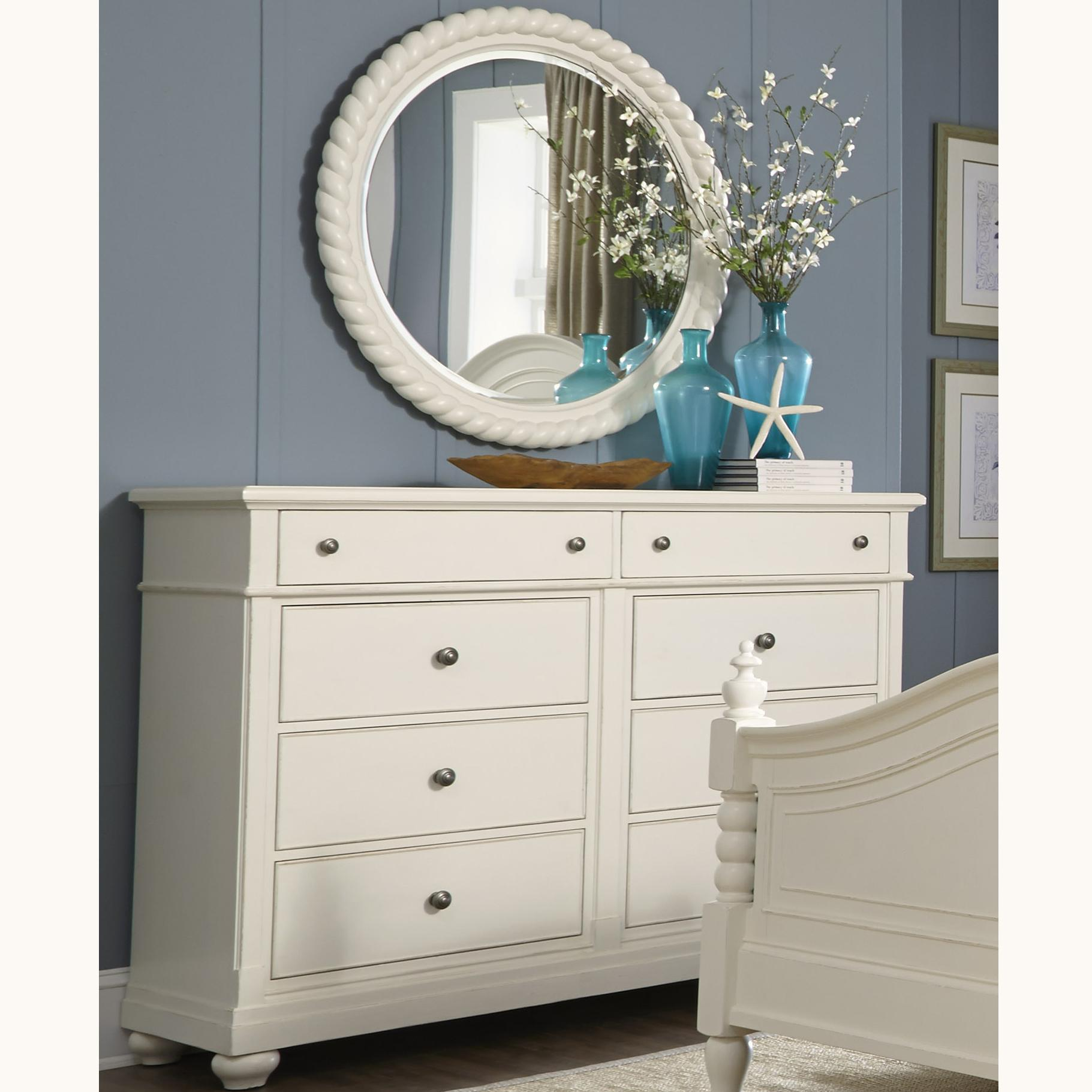 Liberty Furniture Harbor View Dresser and Mirror - Item Number: 631-BR-ODM
