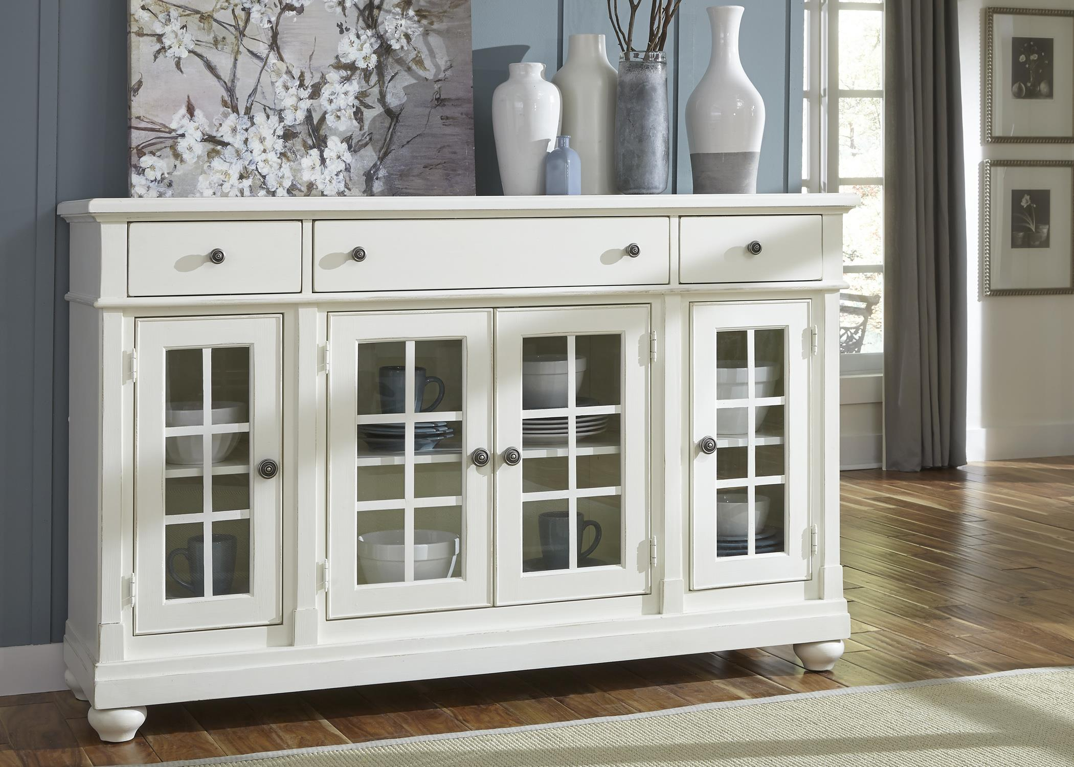 Liberty Furniture Harbor View Buffet - Item Number: 631-CB6642