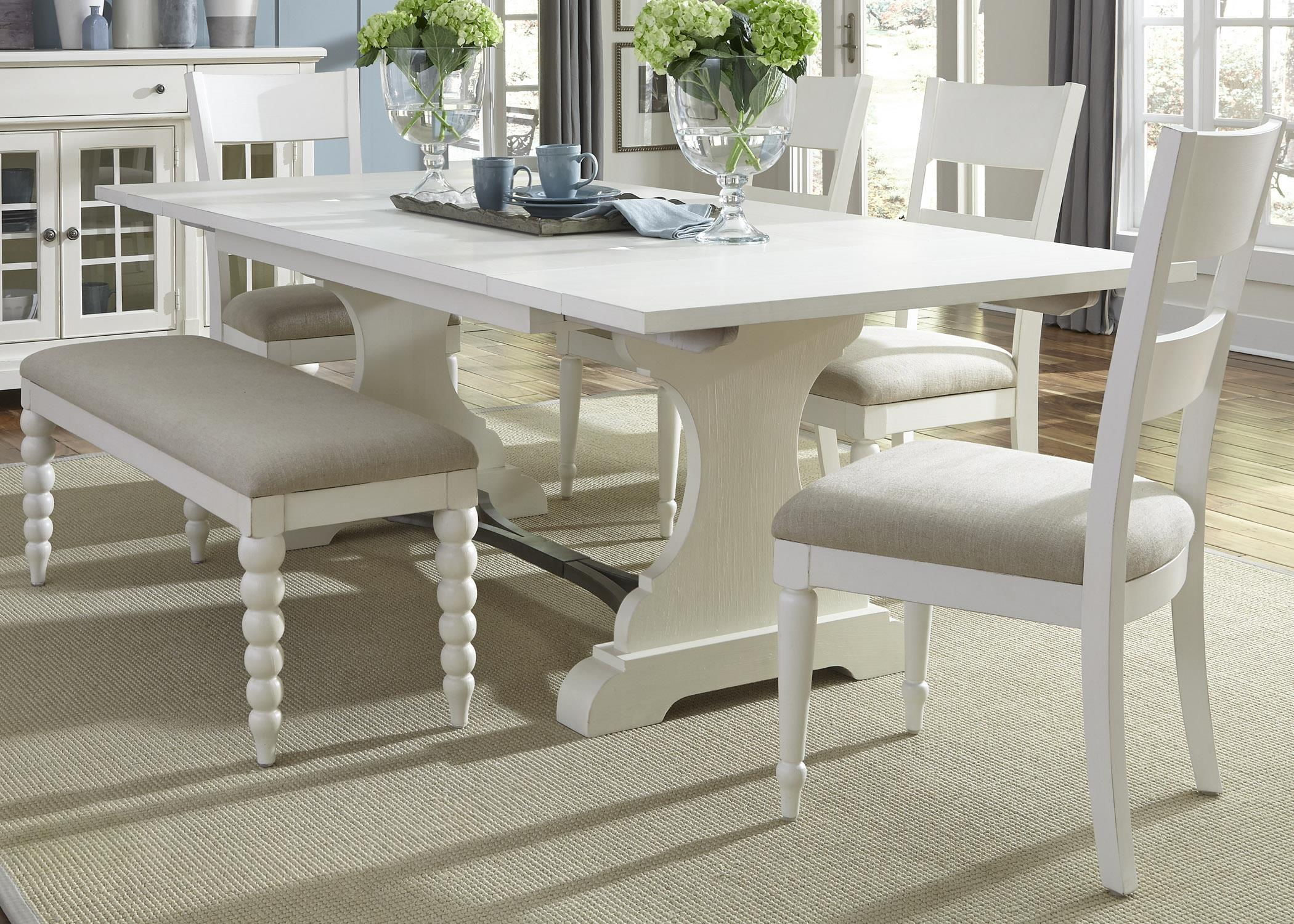 Liberty Furniture Harbor View Trestle Table and Chair Set - Item Number: 631-DR-6TRS