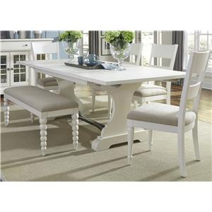 Vendor 5349 Harbor View Trestle Table and Chair Set