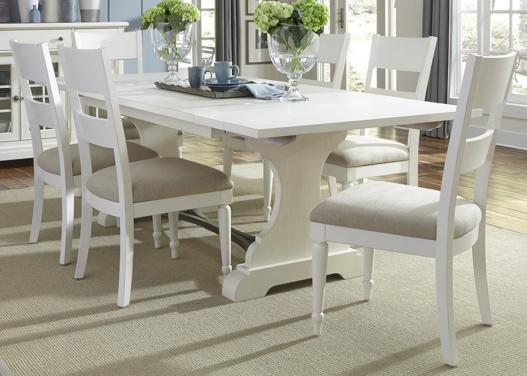 Liberty Furniture Harbor View Trestle Table and Chair Set - Item Number: 631-DR-7TRS
