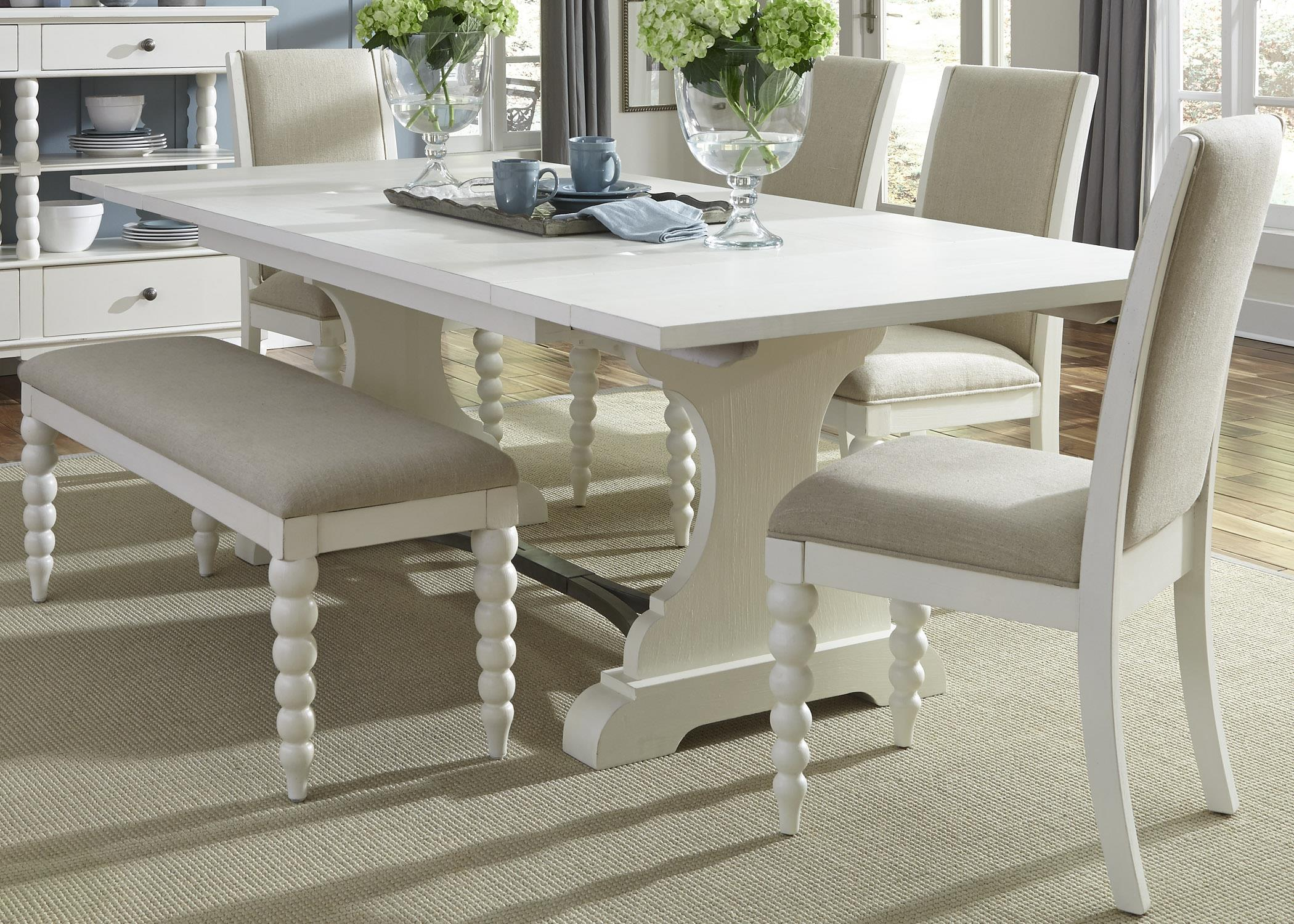 Liberty Furniture Harbor View Trestle Table and Side Chair and Bench Set - Item Number: 631-DR-O6TRS