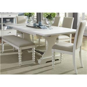 Vendor 5349 Harbor View Trestle Table and Side Chair and Bench Set