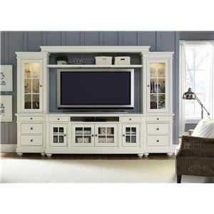 Liberty Furniture Harbor View Entertainment Center with Piers