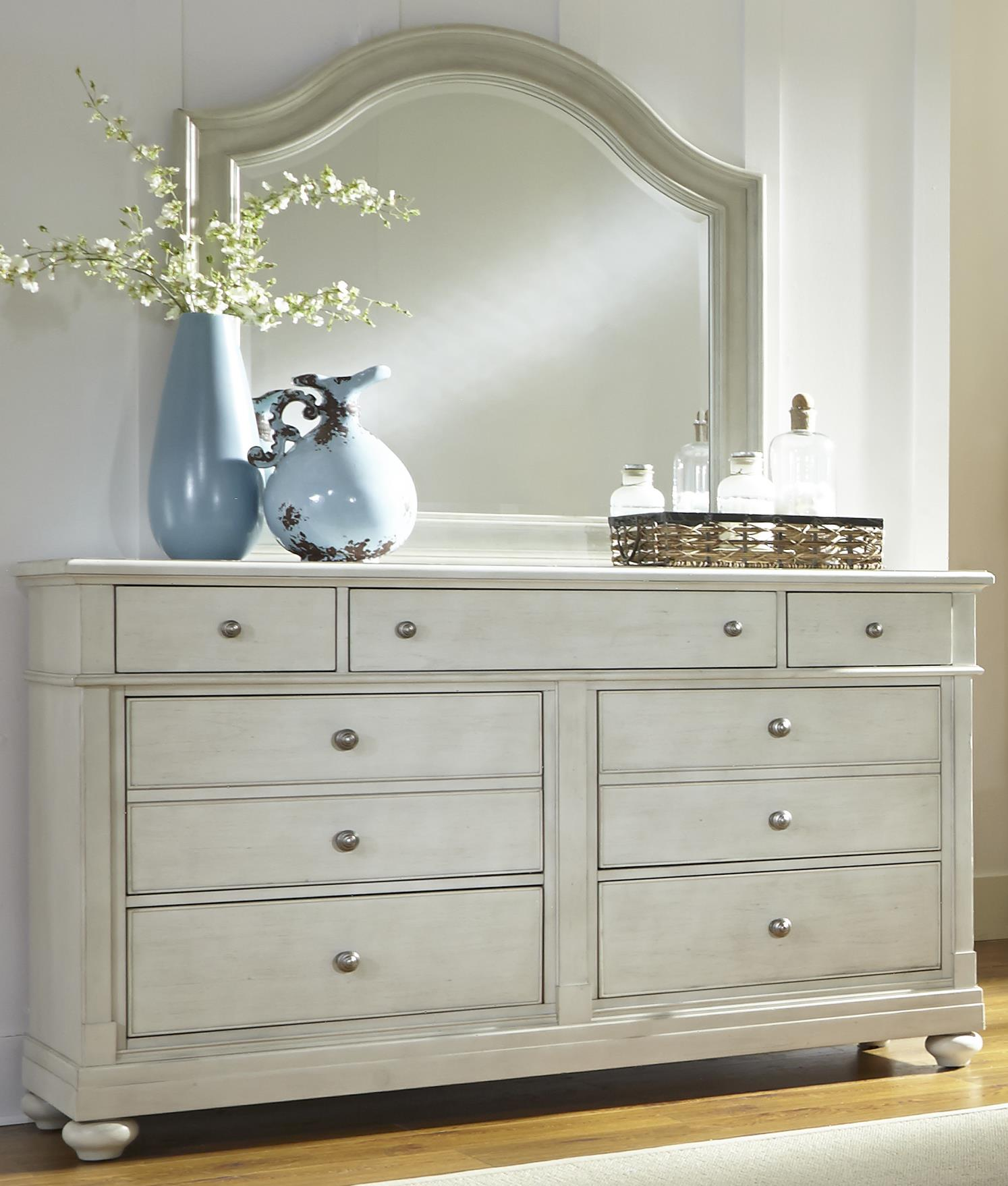 Liberty Furniture Harbor View Dresser with Mirror - Item Number: 731-BR-DM