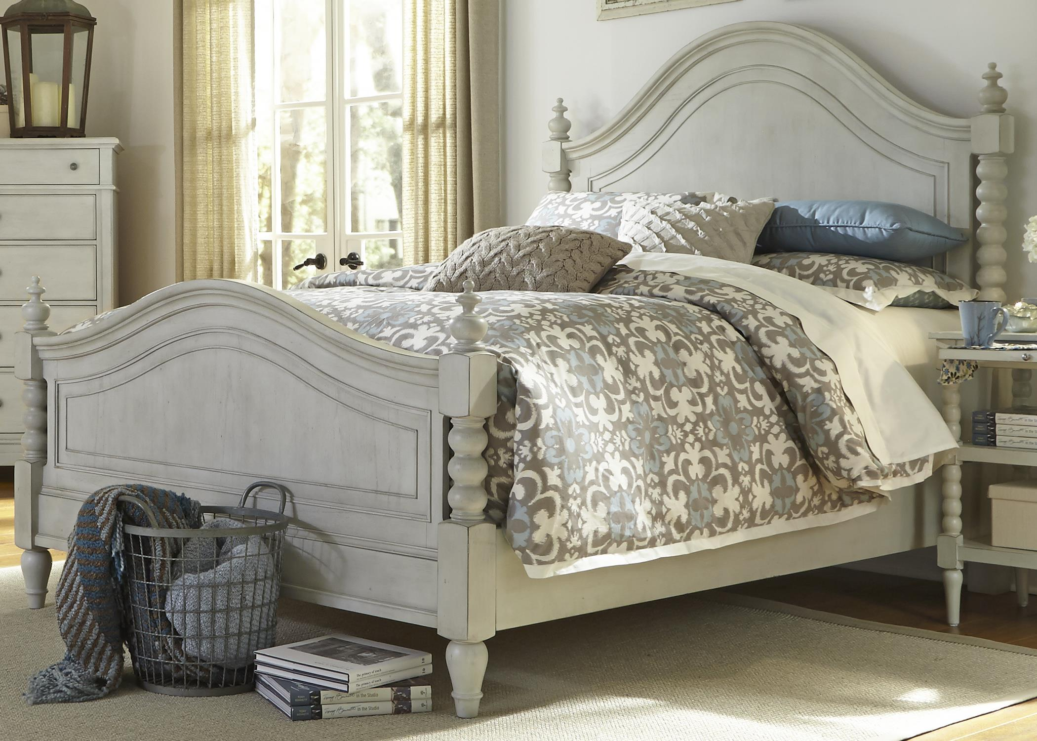 Harbor View King Poster Bed with Barley Twist Accents by Liberty Furniture at Northeast Factory Direct