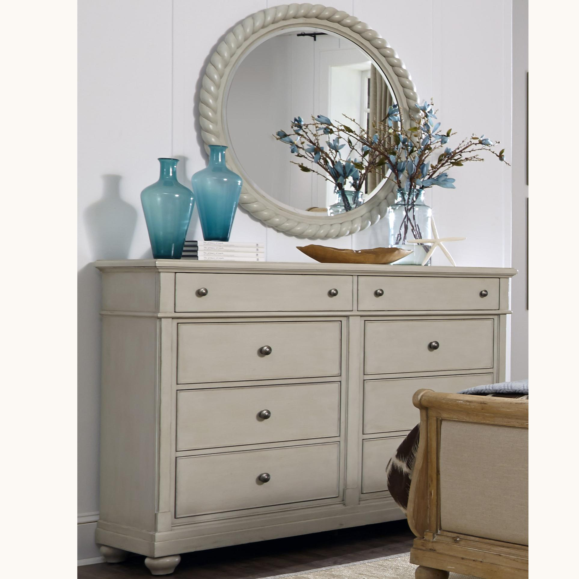Liberty Furniture Harbor View Dresser and Mirror - Item Number: 731-BR-ODM