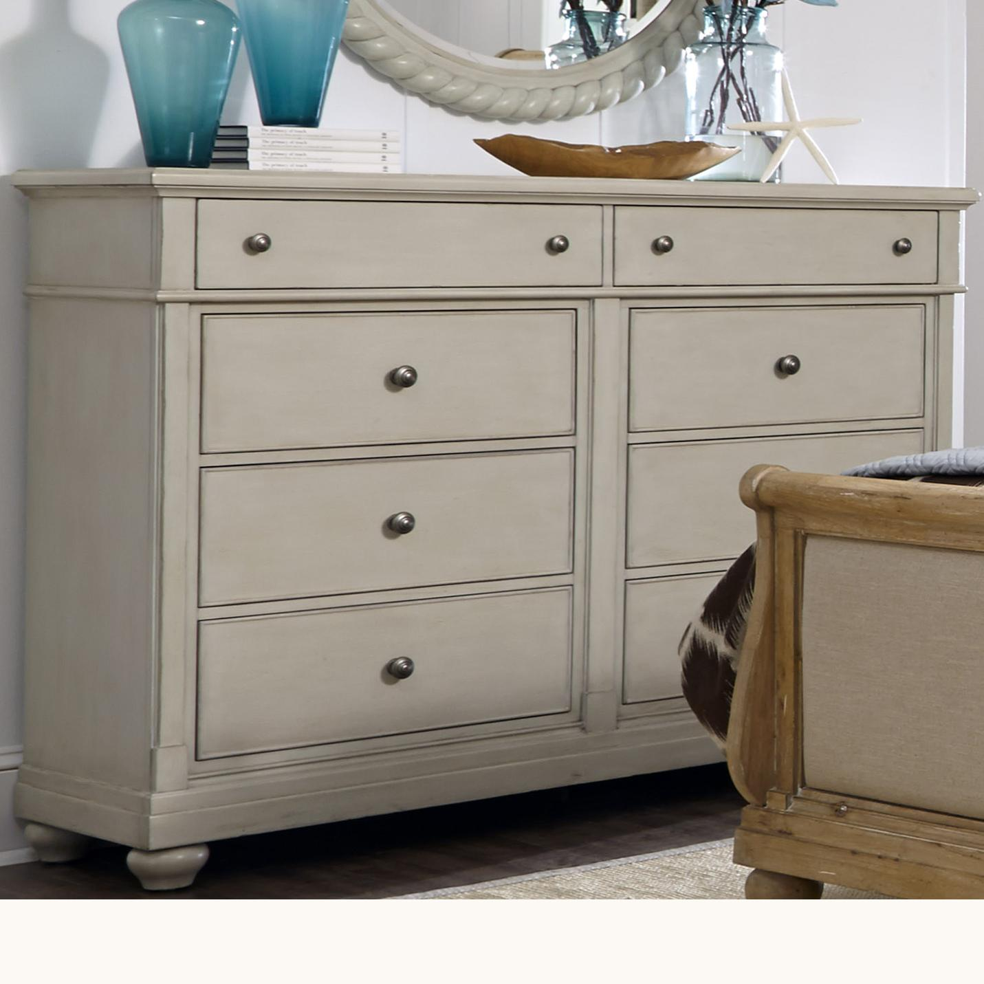 Liberty Furniture Harbor View Dresser with 8 Drawers - Item Number: 731-BR32