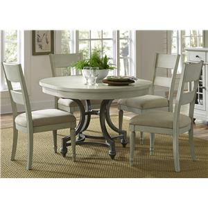 Liberty Furniture Harbor View Round Table Chair Set