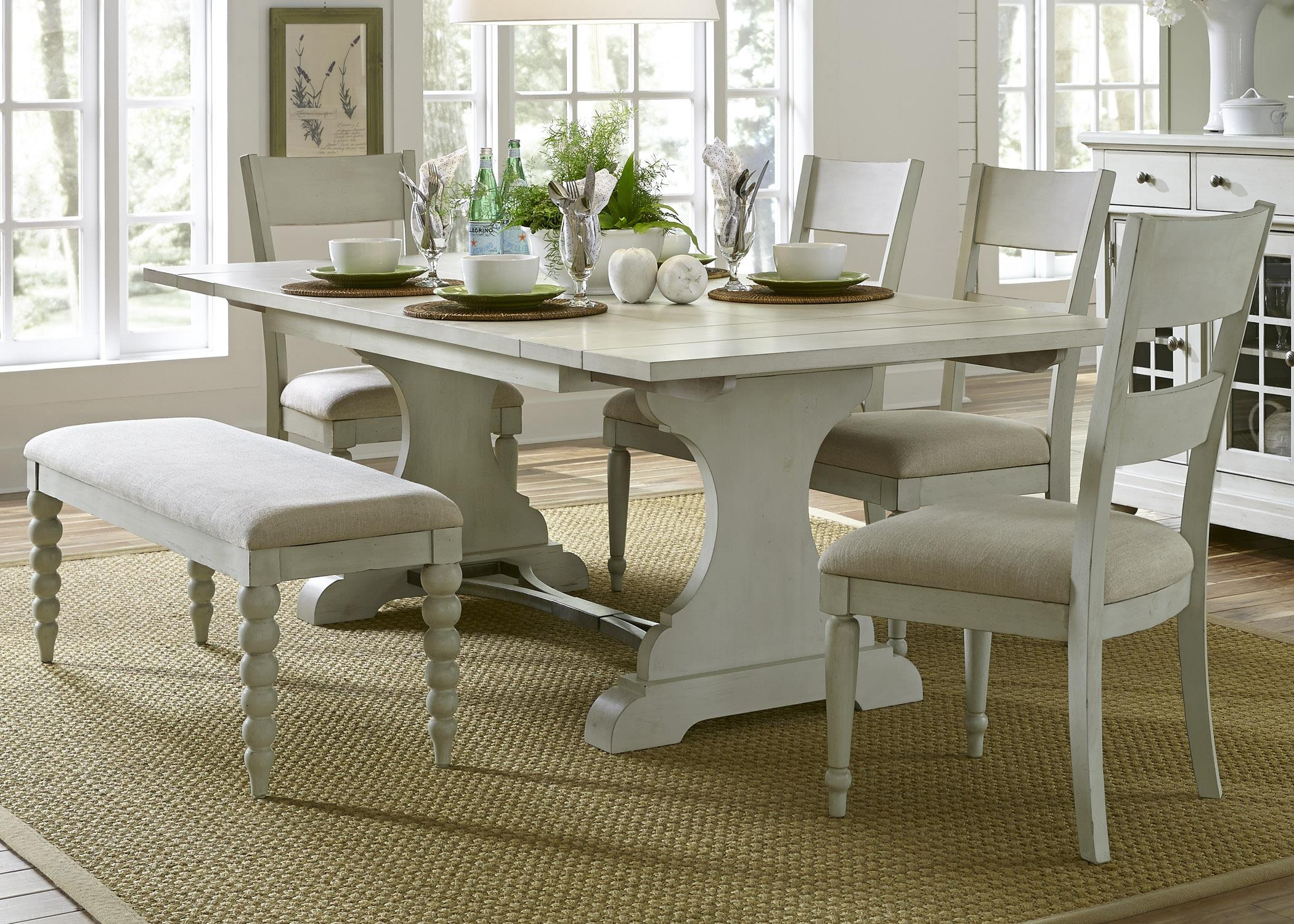 Liberty Furniture Harbor View Trestle Table and Chair Set - Item Number: 731-DR-6TRS