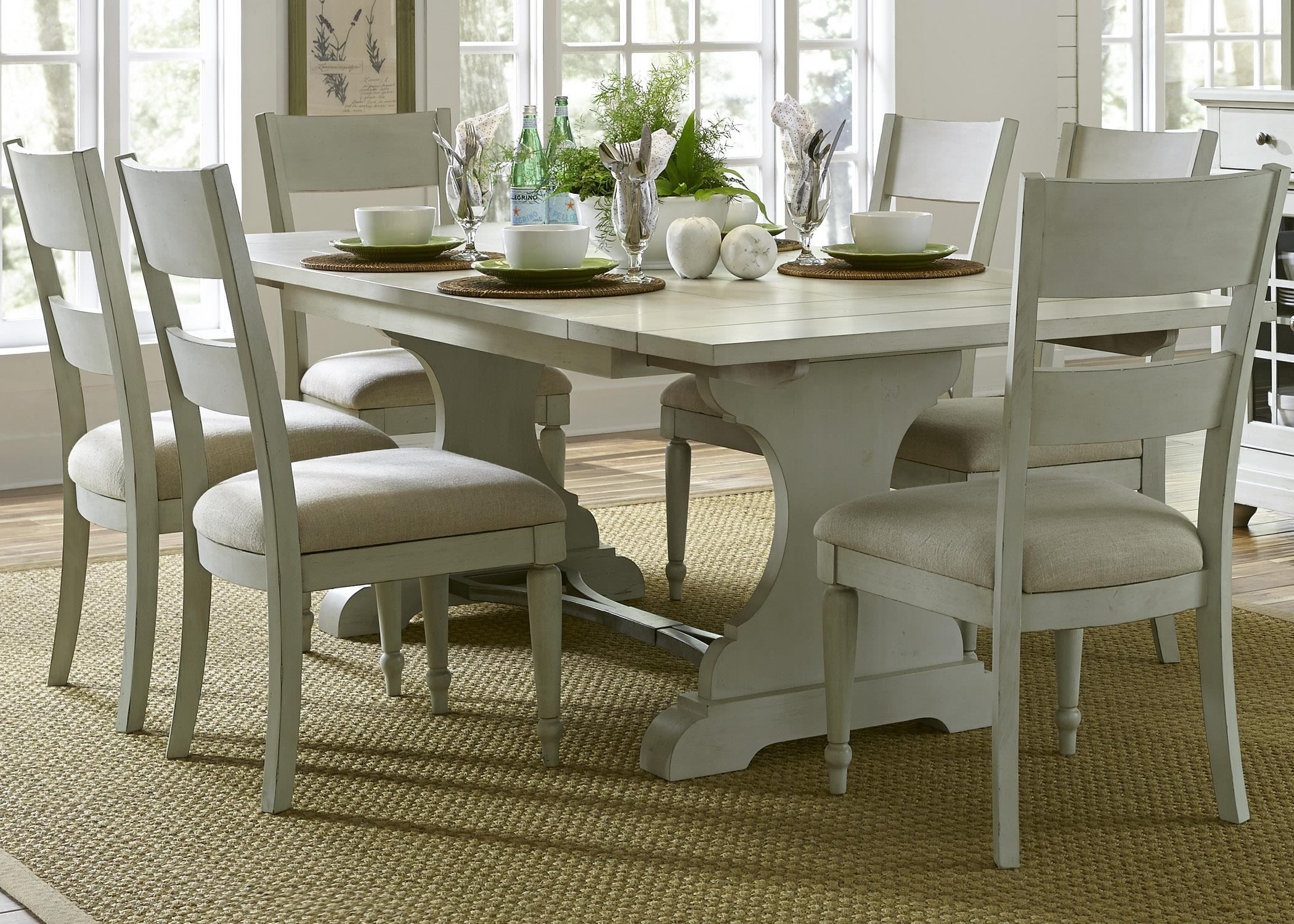 Liberty Furniture Harbor View Trestle Table and Chair Set - Item Number: 731-DR-7TRS