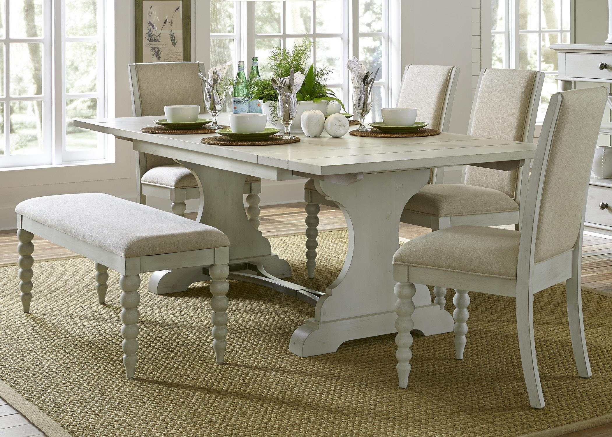 Liberty Furniture Harbor View Trestle Table and Side Chair and Bench Set - Item Number: 731-DR-O6TRS