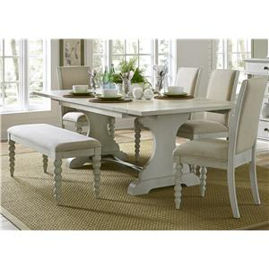 Liberty Furniture Harbor View Trestle Table and Side Chair and Bench Set