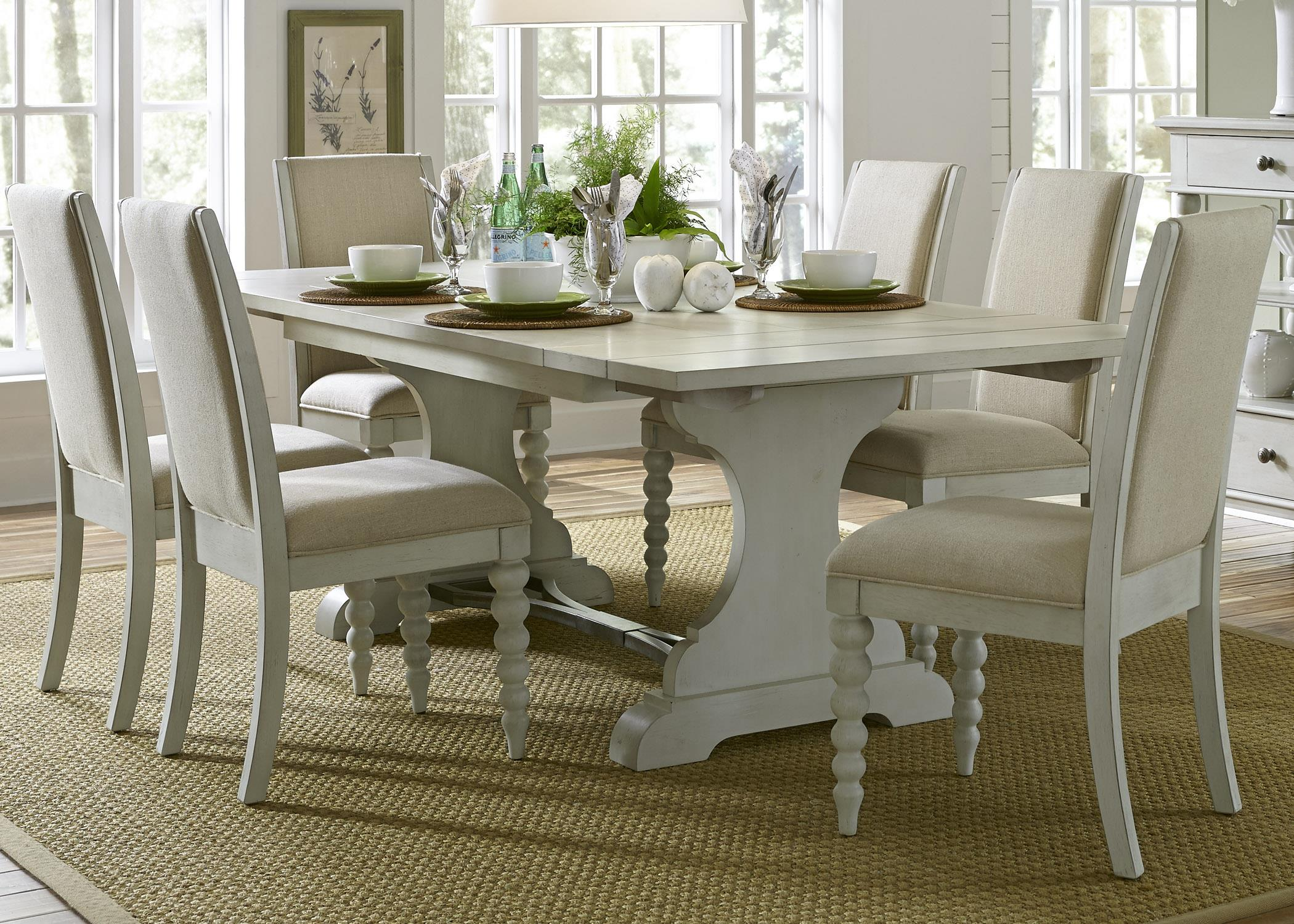 Liberty Furniture Harbor View Trestle Table and Chair Set - Item Number: 731-DR-O7TRS