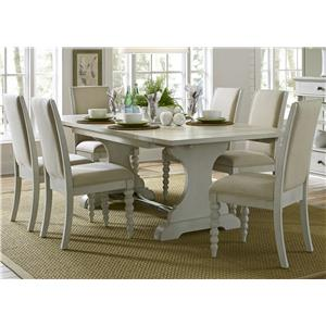 Liberty Furniture Harbor View Trestle Table and Chair Set