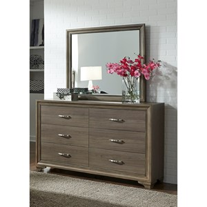 Liberty Furniture Hartly 6 Drawer Dresser & Mirror