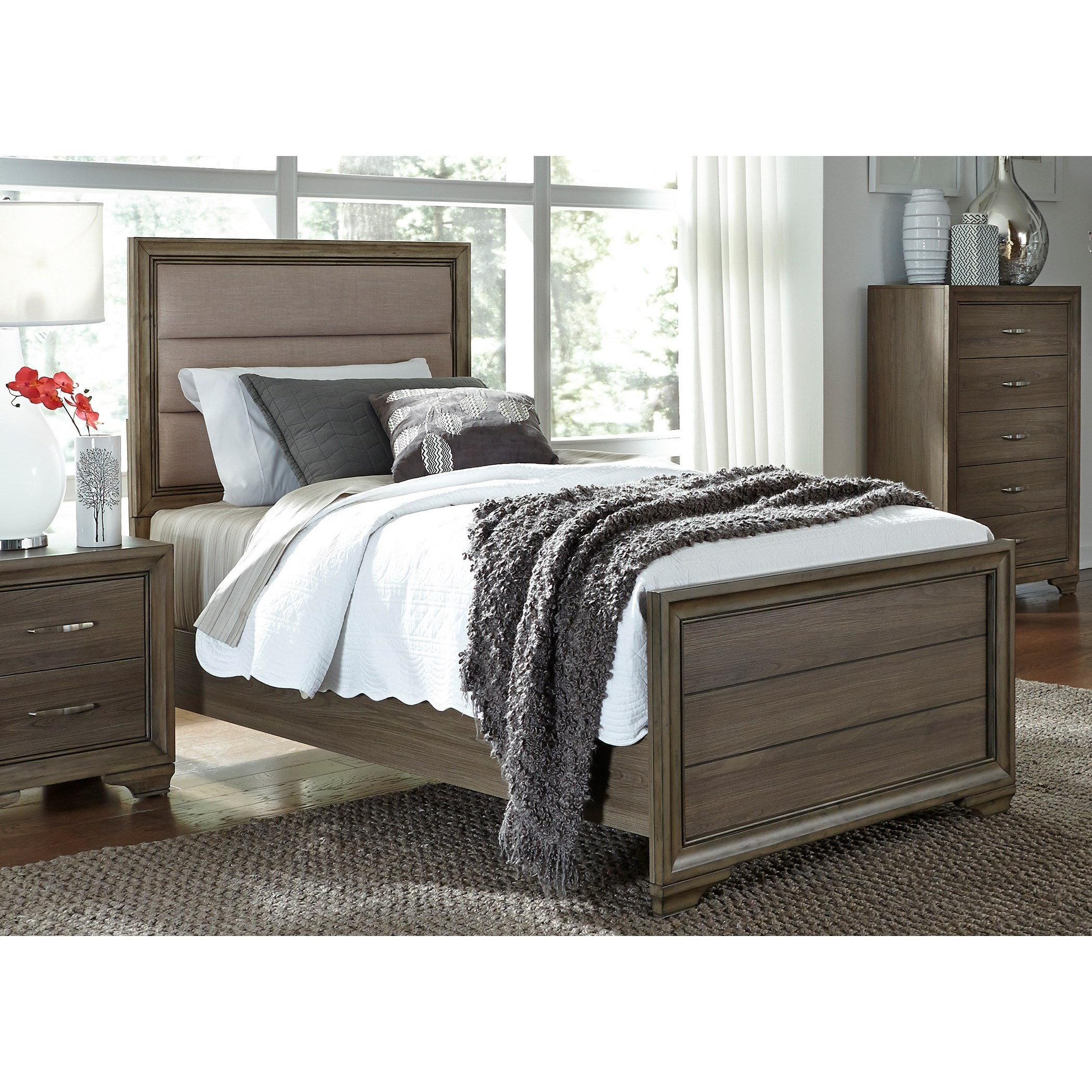 Hartly Twin Upholstered Bed Rotmans Upholstered Beds