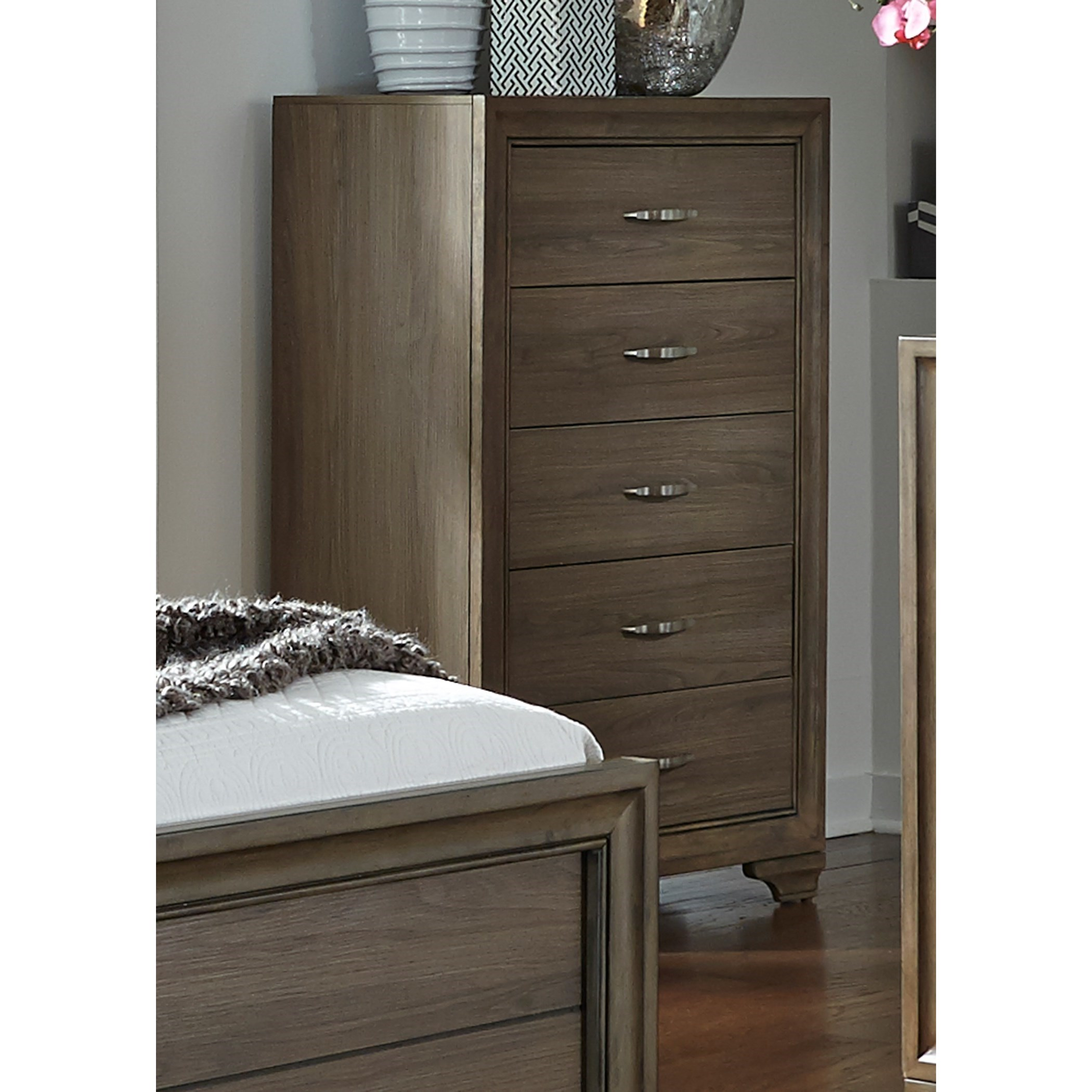 Liberty Furniture Hartly Chest With Five Dovetail Drawers Prime Brothers Furniture Drawer Chests