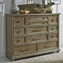 Liberty Furniture Harvest Home 11 Drawer Dresser - Item Number: 779-BR31