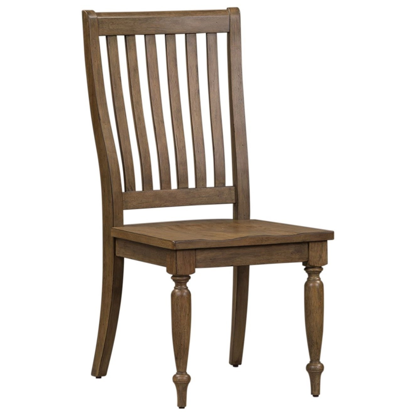 Harvest Home Slat Back Side Chair by Libby at Walker's Furniture